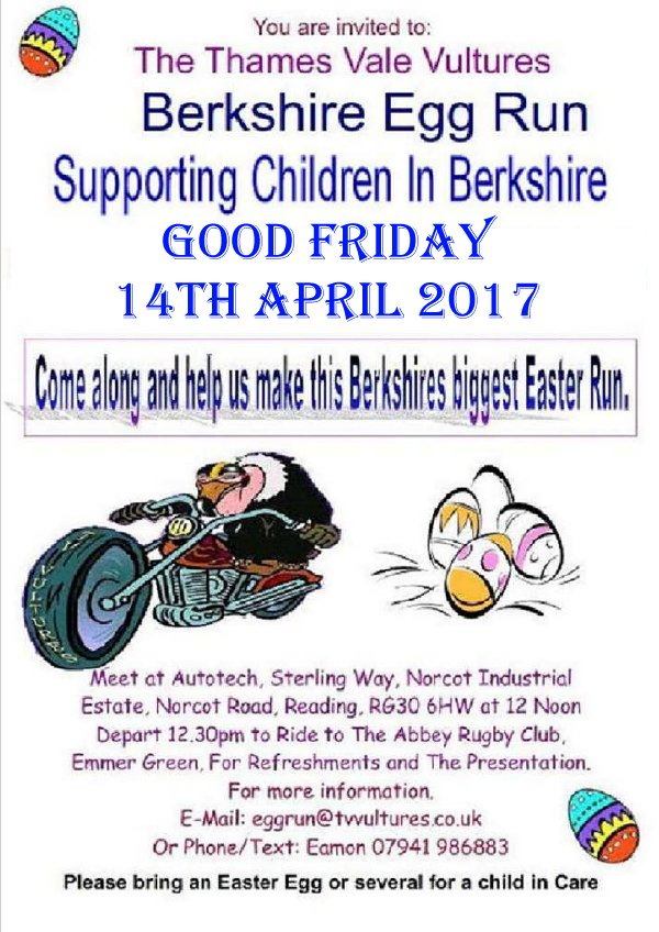 Good Friday - Easter Egg Run @ Autotech, Norcot Industrial Estate | England | United Kingdom