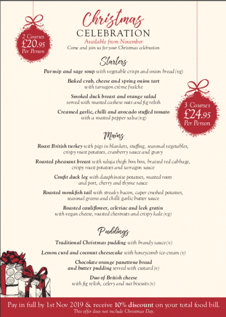Christmas Dinner @ The Wheelrights Arms